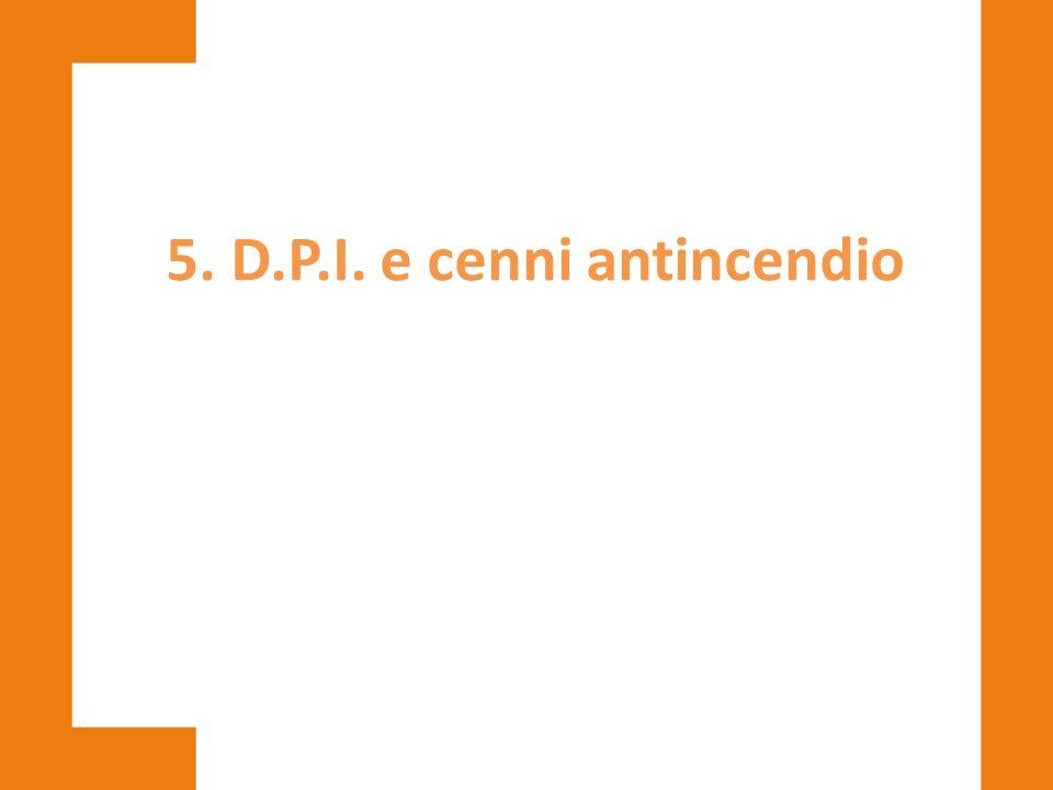 5. D.P.I. e cenni antincendio