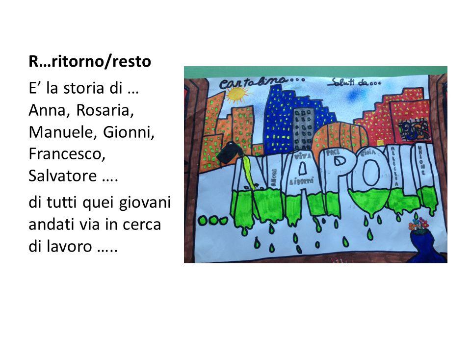 R…ritorno/resto E' la storia di … Anna, Rosaria, Manuele, Gionni, Francesco, Salvatore ….