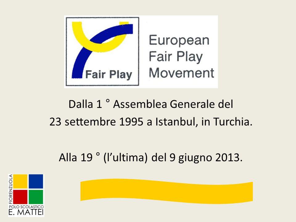 Dalla 1 ° Assemblea Generale del 23 settembre 1995 a Istanbul, in Turchia. Alla 19 ° (l'ultima) del 9 giugno 2013.