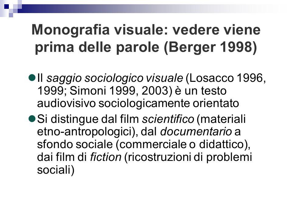 Il saggio sociologico visuale (Losacco 1996, 1999; Simoni 1999, 2003) è un testo audiovisivo sociologicamente orientato Si distingue dal film scientif