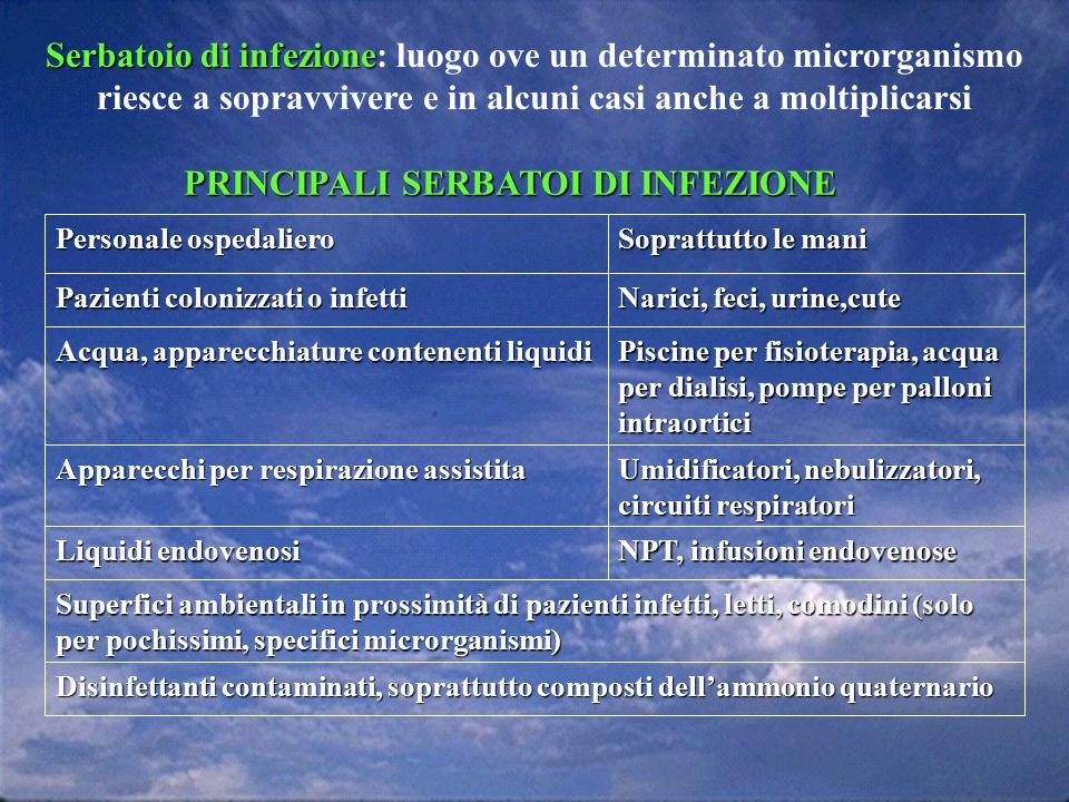 Serbatoio di infezione Serbatoio di infezione: luogo ove un determinato microrganismo riesce a sopravvivere e in alcuni casi anche a moltiplicarsi Dis