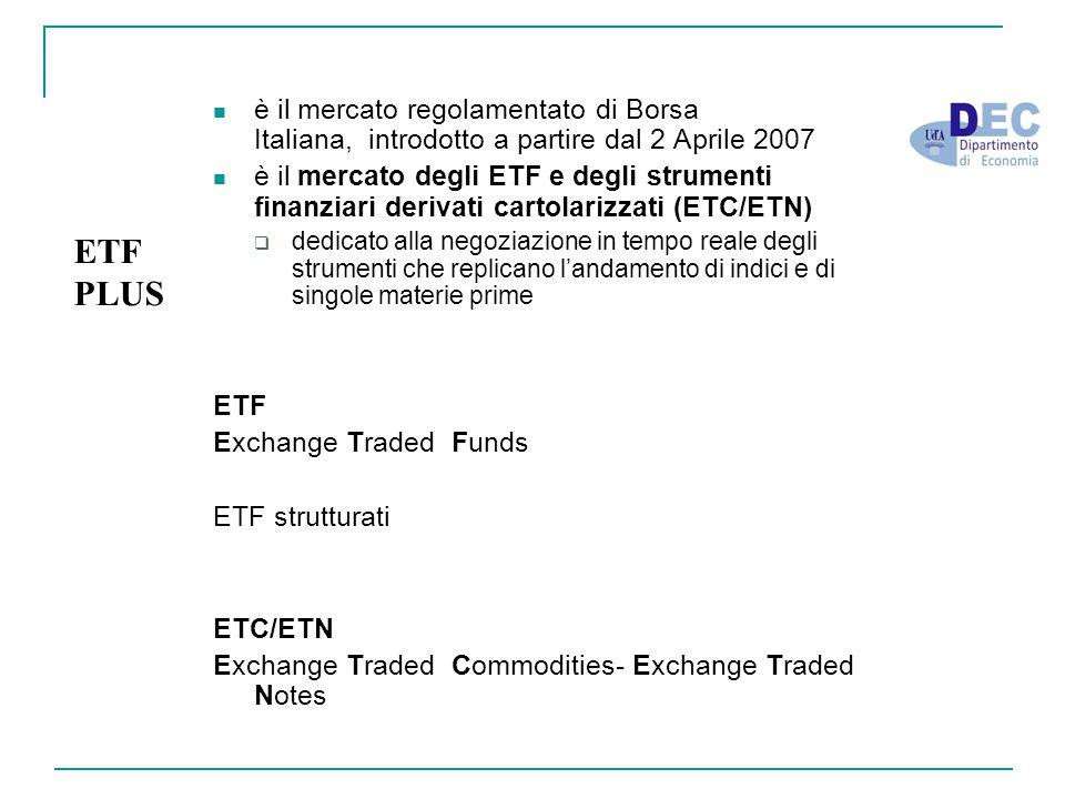 è il mercato regolamentato di Borsa Italiana, introdotto a partire dal 2 Aprile 2007 è il mercato degli ETF e degli strumenti finanziari derivati cart