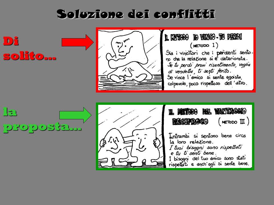 Soluzione dei conflitti Di solito… la proposta…