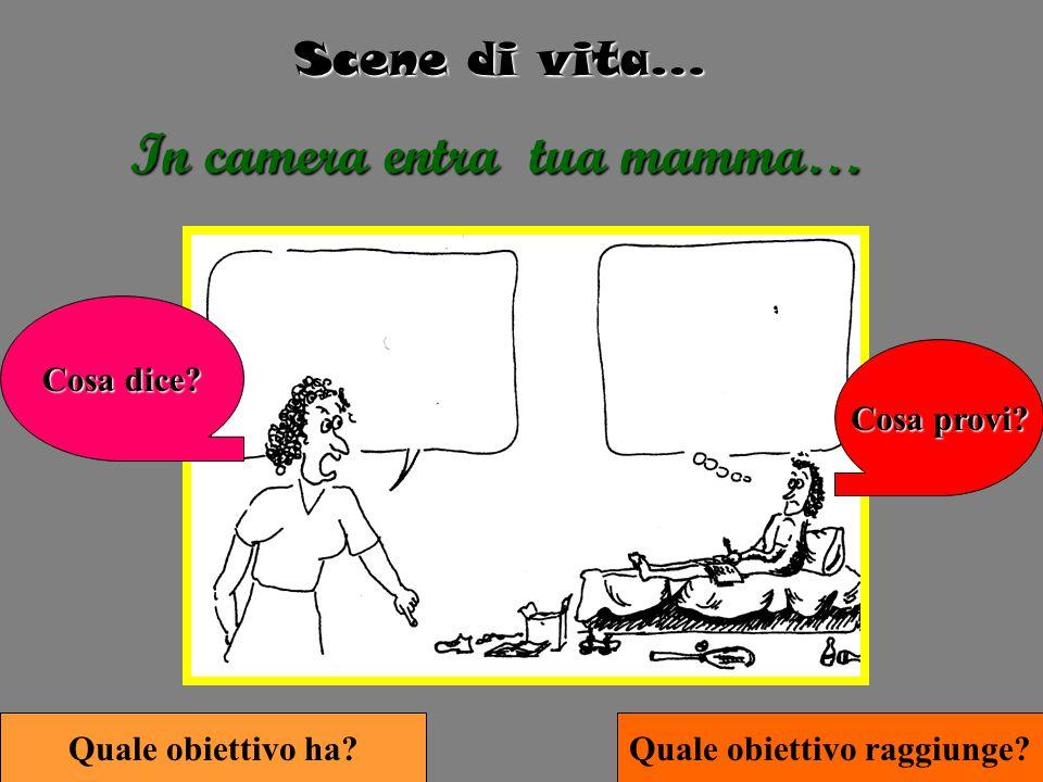 Scene di vita… In camera entra tua mamma… Cosa provi.