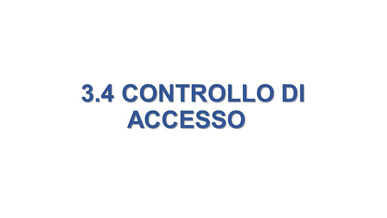 3.4 CONTROLLO DI ACCESSO 3.4 CONTROLLO DI ACCESSO