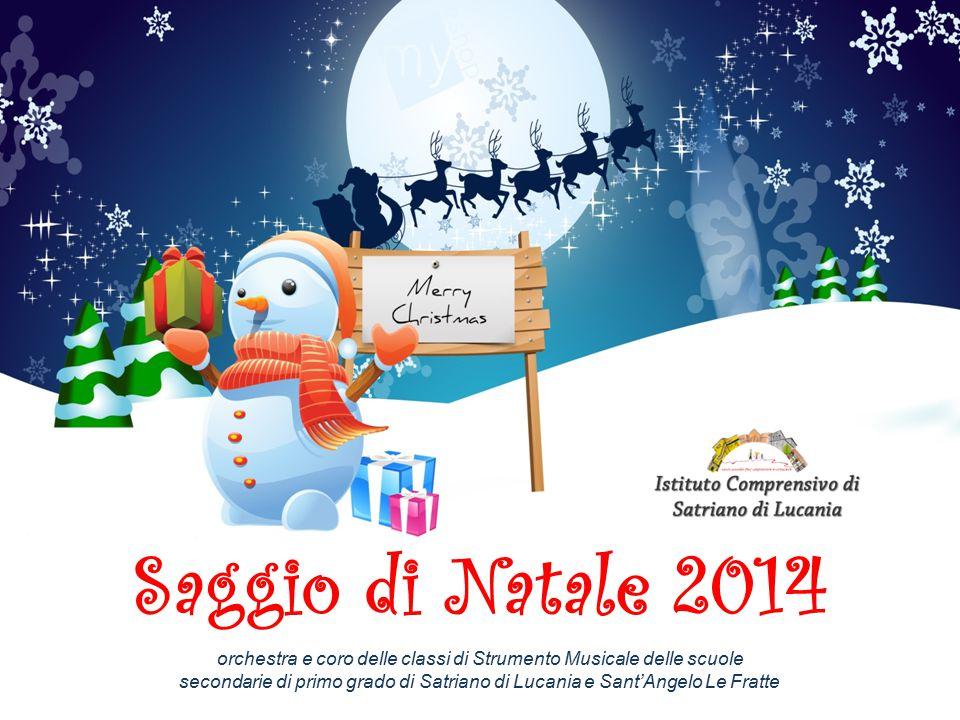 Saggio di Natale 2014 orchestra e coro delle classi di Strumento Musicale delle scuole secondarie di primo grado di Satriano di Lucania e Sant'Angelo