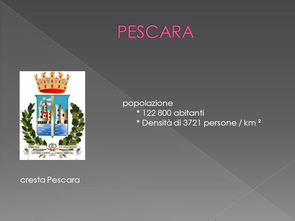 cresta Pescara popolazione * 122 800 abitanti * Densità di 3721 persone / km ²