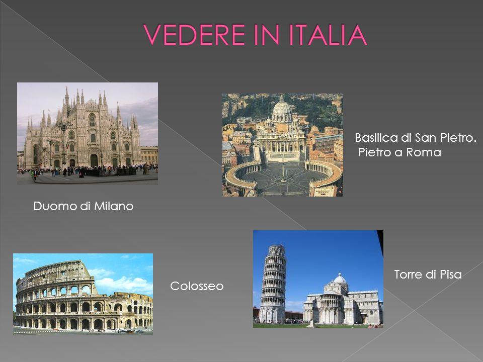 Duomo di Milano Basilica di San Pietro. Pietro a Roma Colosseo Torre di Pisa