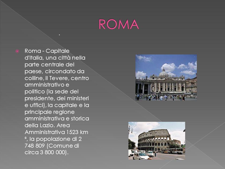  Roma - Capitale d'Italia, una città nella parte centrale del paese, circondato da colline, il Tevere, centro amministrativo e politico (la sede del