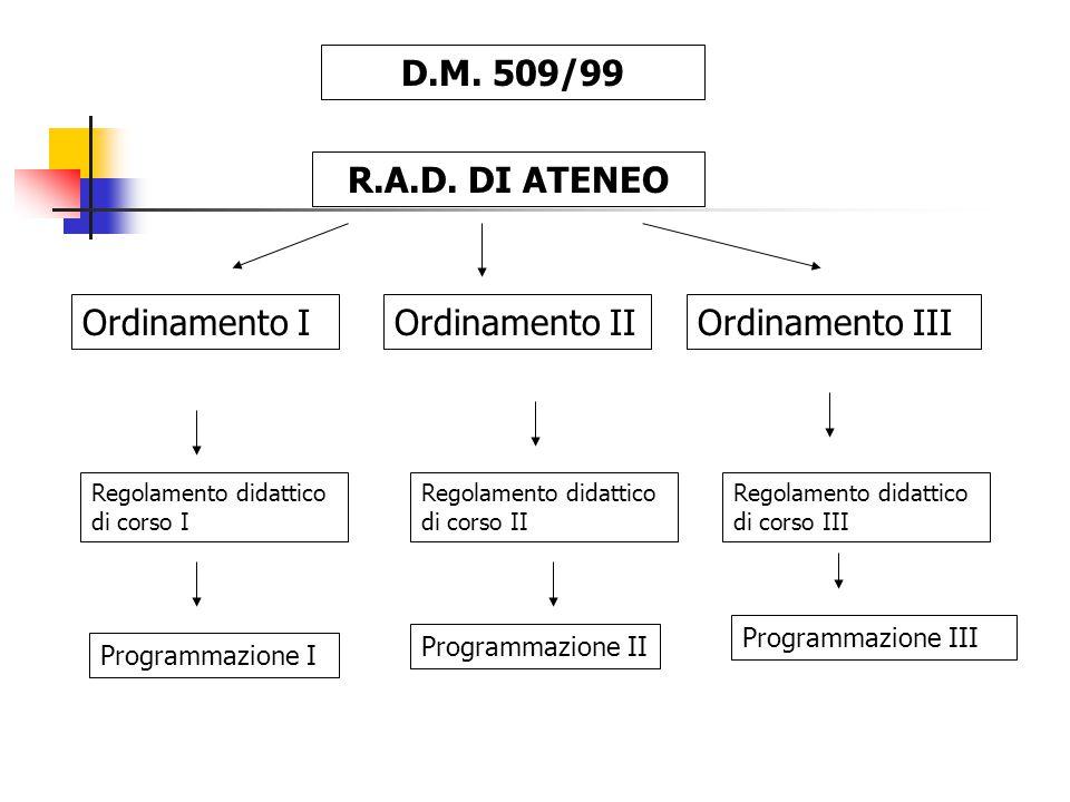 D.M. 509/99 R.A.D.