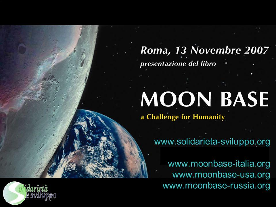 www.solidarieta-sviluppo.org www.moonbase-italia.org www.moonbase-usa.org www.moonbase-russia.org