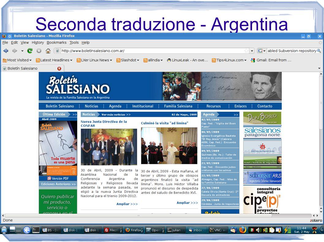 Seconda traduzione - Argentina