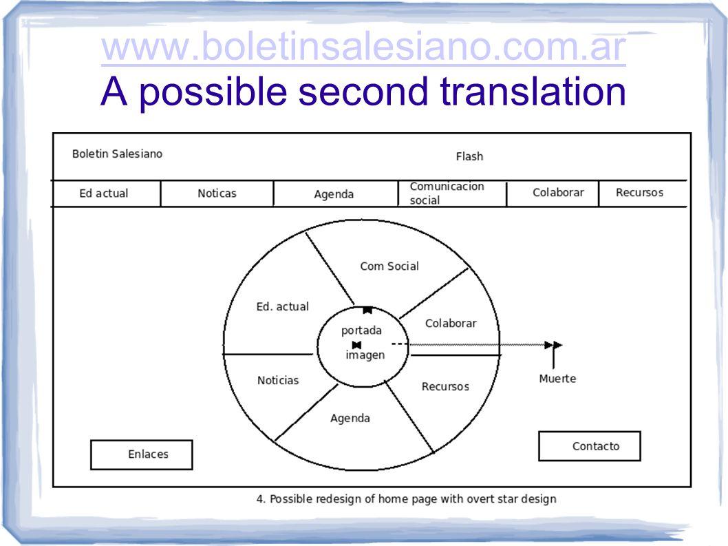 www.boletinsalesiano.com.ar www.boletinsalesiano.com.ar A possible second translation