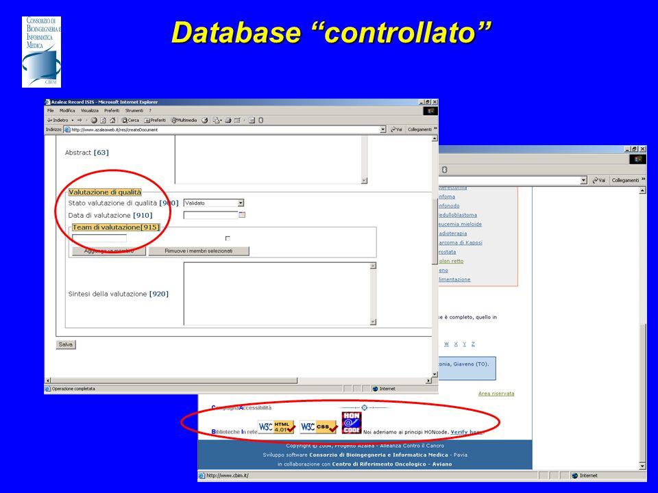 Database controllato