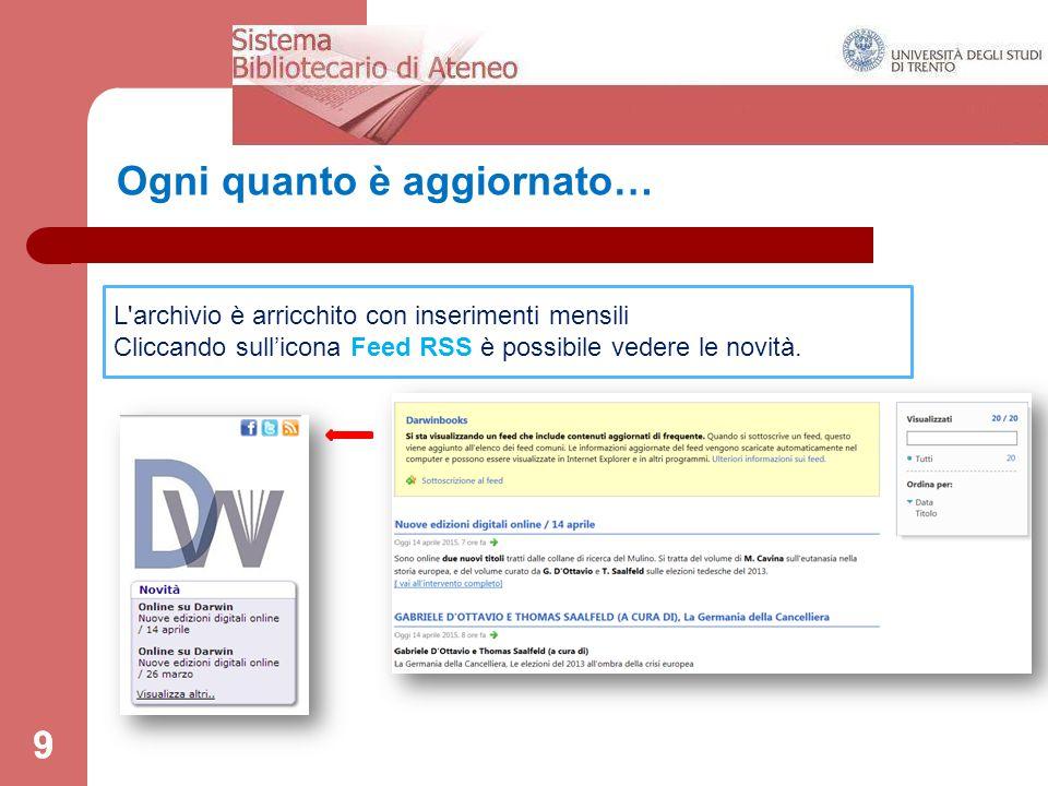 60 Help: http://www.darwinbooks.it.ezp.biblio.unitn.it/main/help http://www.darwinbooks.it.ezp.biblio.unitn.it/main/help Info: http://www.darwinbooks.it.ezp.biblio.unitn.it/main/info http://www.darwinbooks.it.ezp.biblio.unitn.it/main/info FAQ (Domande e risposte) http://www.darwinbooks.it.ezp.biblio.unitn.it/news/news/index/NewsCollection /News:NEWS_COLLECTION:2 http://www.darwinbooks.it.ezp.biblio.unitn.it/news/news/index/NewsCollection /News:NEWS_COLLECTION:2 Link utili