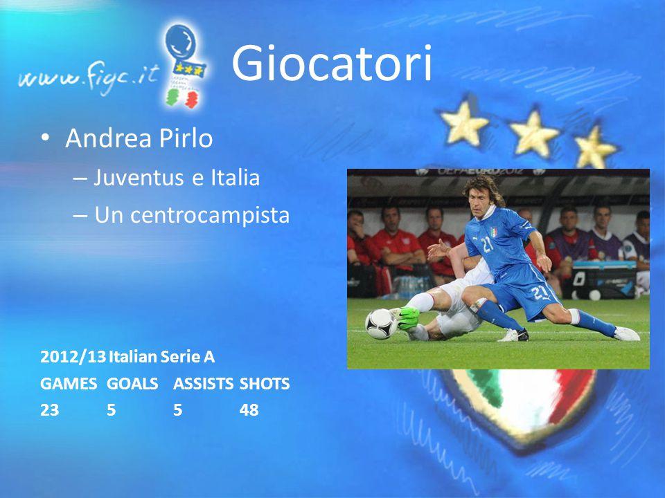 Giocatori Andrea Pirlo – Juventus e Italia – Un centrocampista 2012/13 Italian Serie A GAMESGOALSASSISTSSHOTS 235548