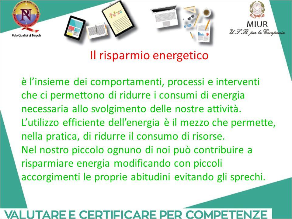 Il risparmio energetico è l'insieme dei comportamenti, processi e interventi che ci permettono di ridurre i consumi di energia necessaria allo svolgim