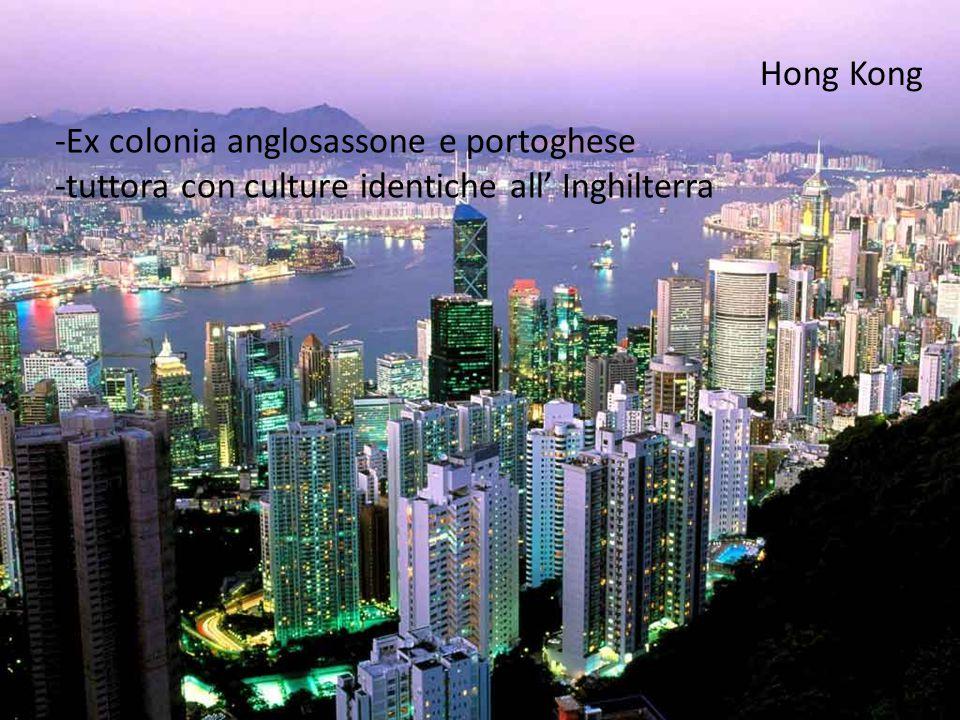 Macao -Ex colonia anglosassone -appartenente alla Cina dal 20 secolo