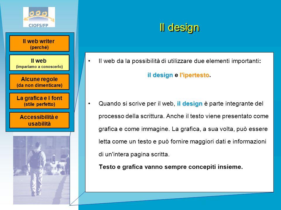 Il design Il web da la possibilità di utilizzare due elementi importanti: il designl ipertesto il design e l ipertesto.