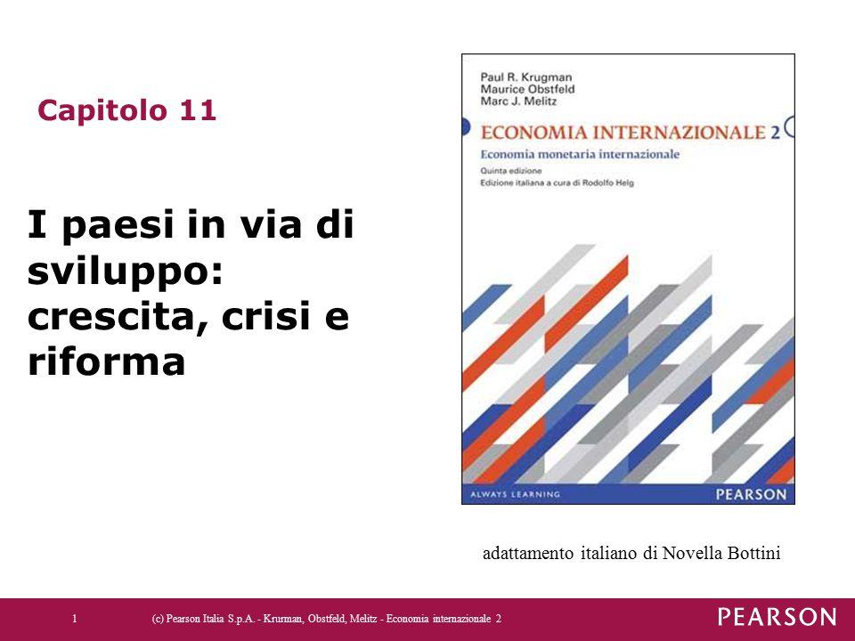 (c) Pearson Italia S.p.A. - Krurman, Obstfeld, Melitz - Economia internazionale 21 Capitolo 11 I paesi in via di sviluppo: crescita, crisi e riforma a