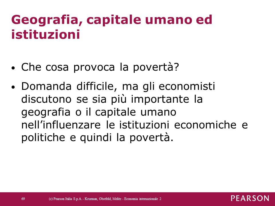 Geografia, capitale umano ed istituzioni Che cosa provoca la povertà? Domanda difficile, ma gli economisti discutono se sia più importante la geografi