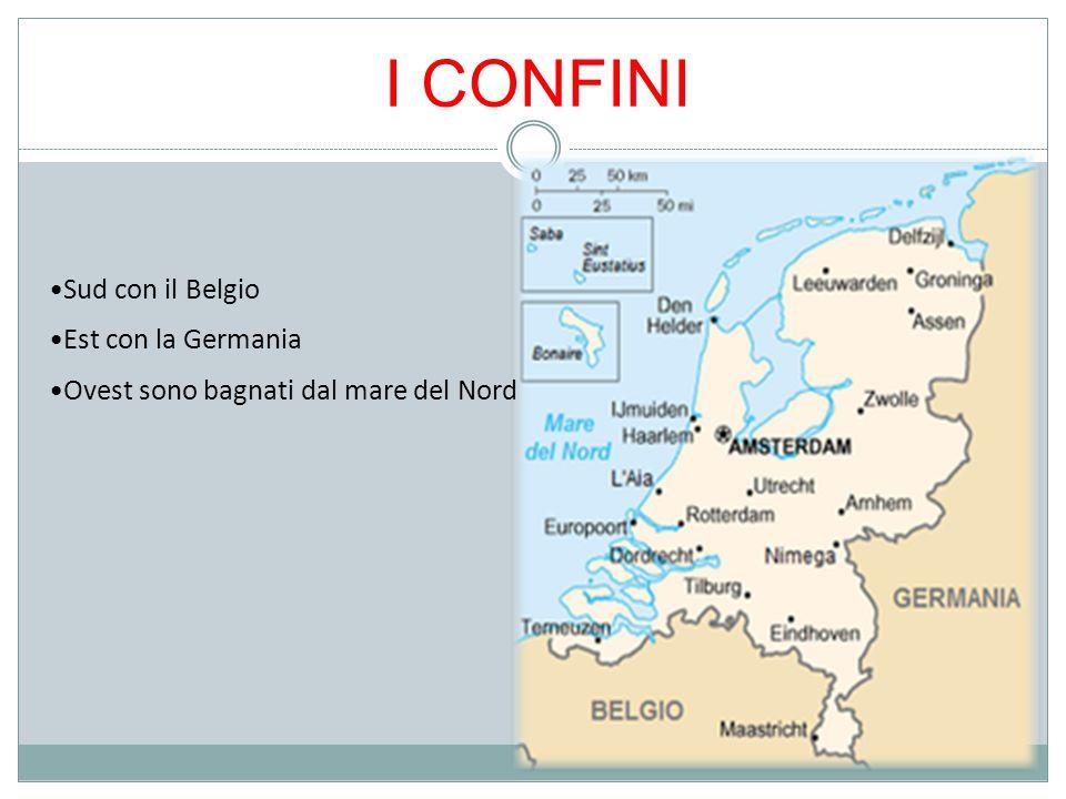 I CONFINI Est con la Germania Sud con il Belgio Ovest sono bagnati dal mare del Nord