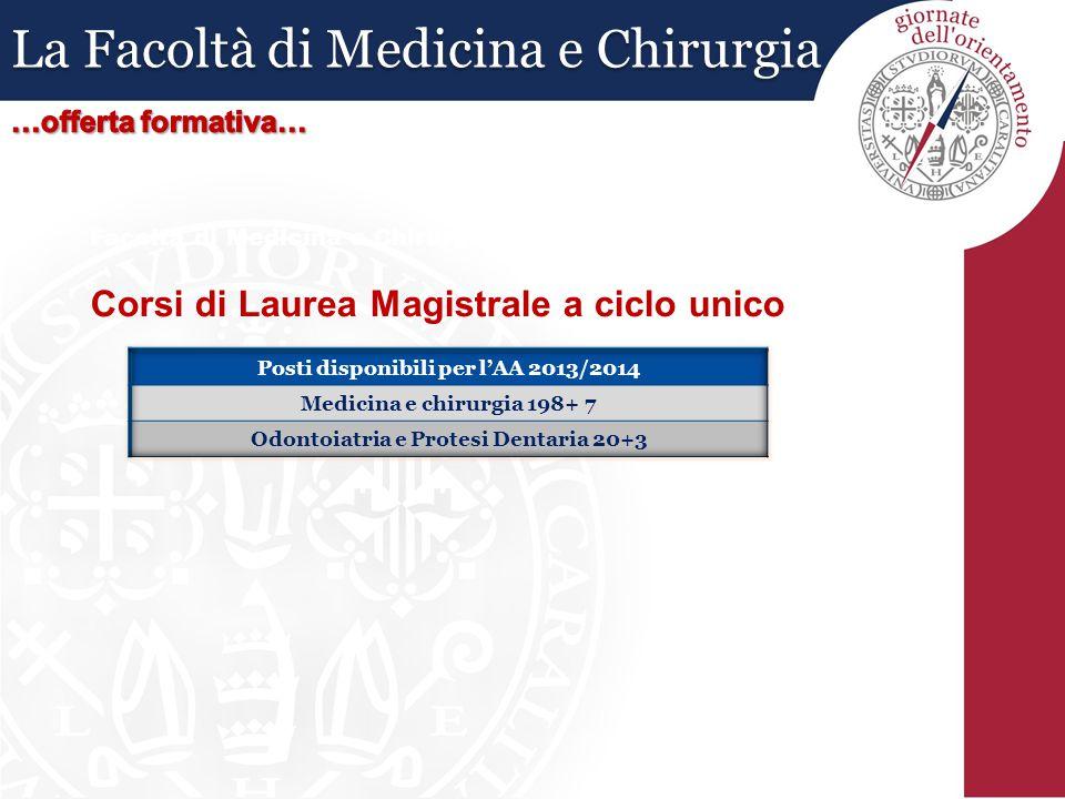 Facoltà di Medicina e Chirurgia: Corsi di Laurea Magistrale a ciclo unico La Facoltà di Medicina e Chirurgia