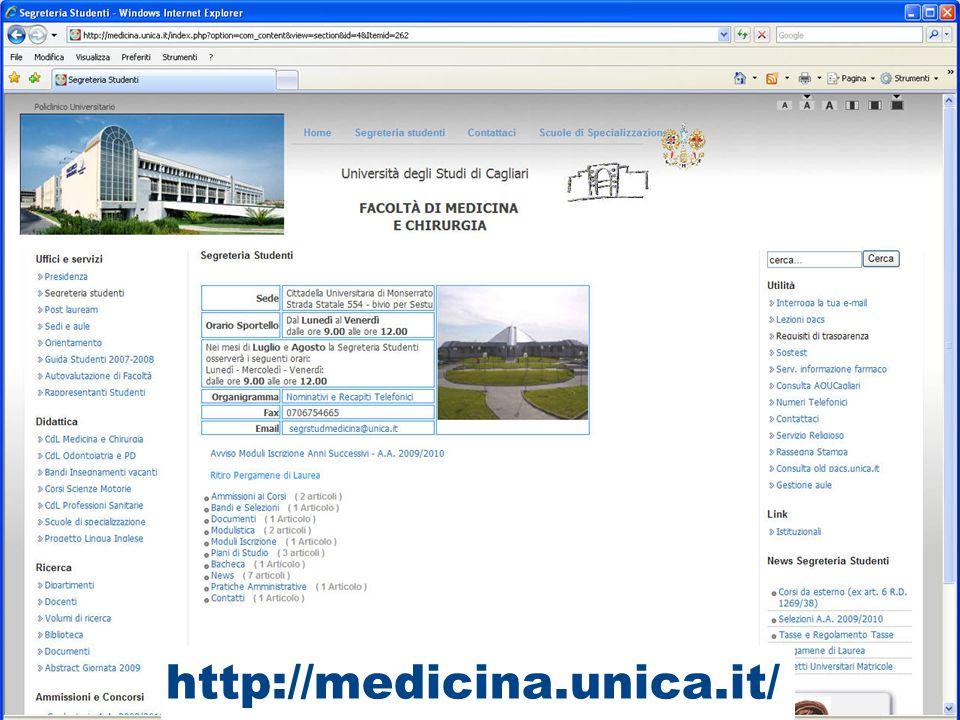 Facoltà di Medicina e Chirurgia Offerta formativa Tanti percorsi.... un solo obiettivo: la salute