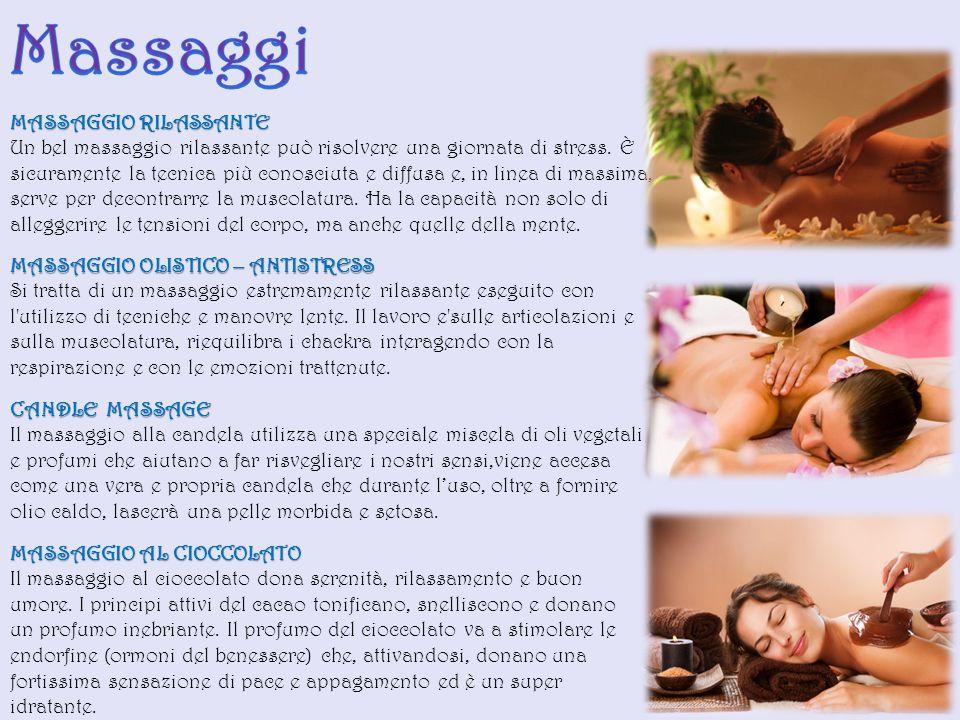 MASSAGGIO RILASSANTE Un bel massaggio rilassante può risolvere una giornata di stress.