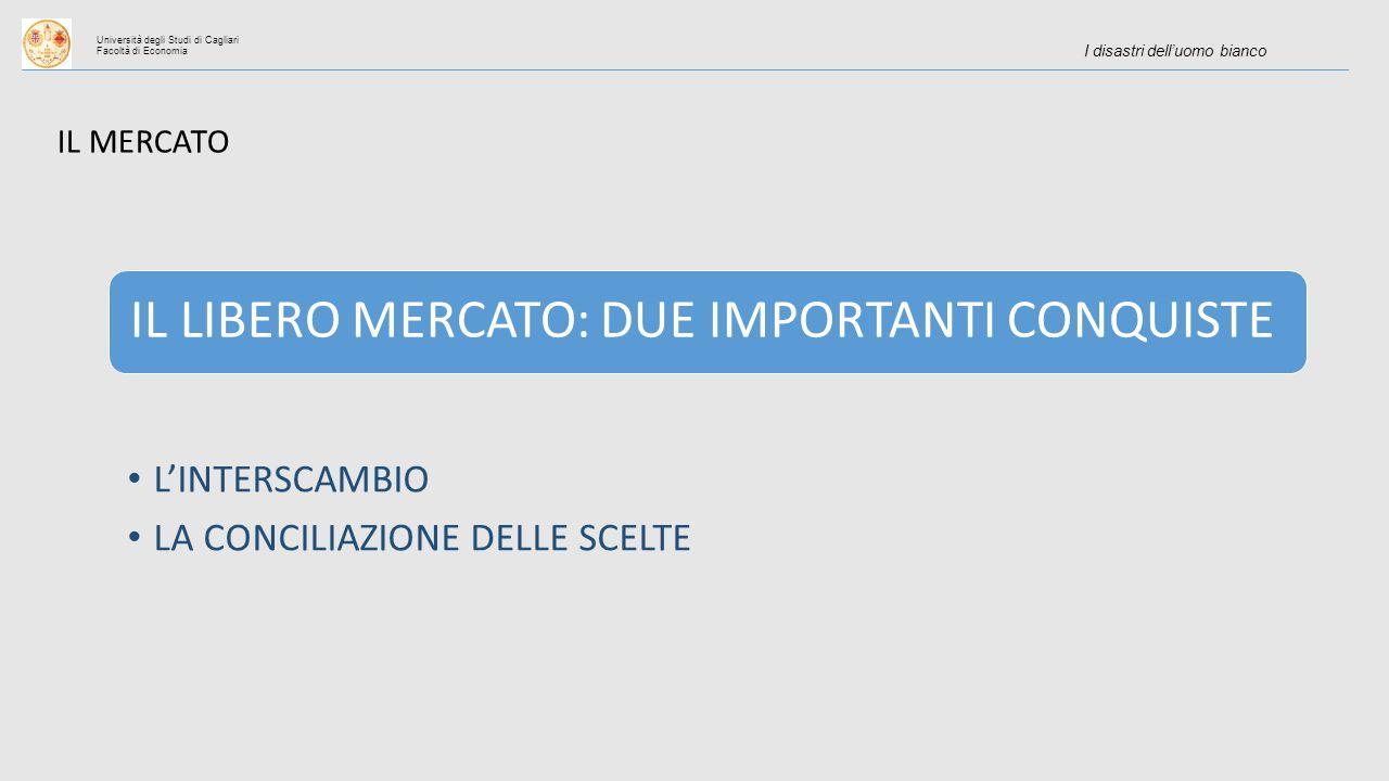 Università degli Studi di Cagliari Facoltà di Economia I disastri dell'uomo bianco IL LIBERO MERCATO: DUE IMPORTANTI CONQUISTE L'INTERSCAMBIO LA CONCILIAZIONE DELLE SCELTE IL MERCATO