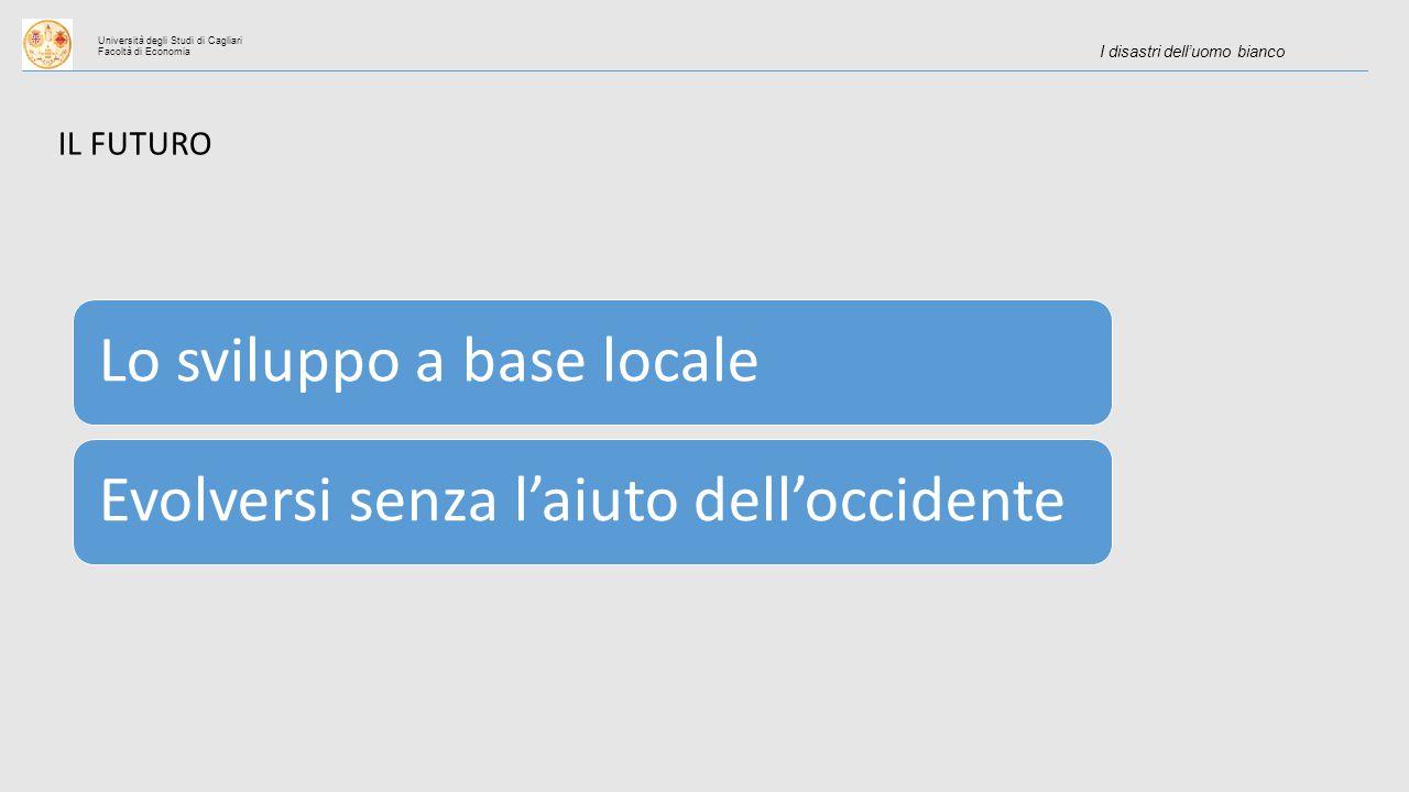 Università degli Studi di Cagliari Facoltà di Economia I disastri dell'uomo bianco IL FUTURO Lo sviluppo a base localeEvolversi senza l'aiuto dell'occidente
