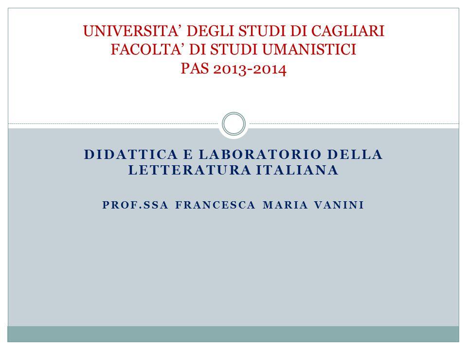 Tre criteri per un rinnovamento (Luperini 2013, Per un nuovo paradigma didattico , in La scuola e noi, 12 Gennaio 2013) 1.