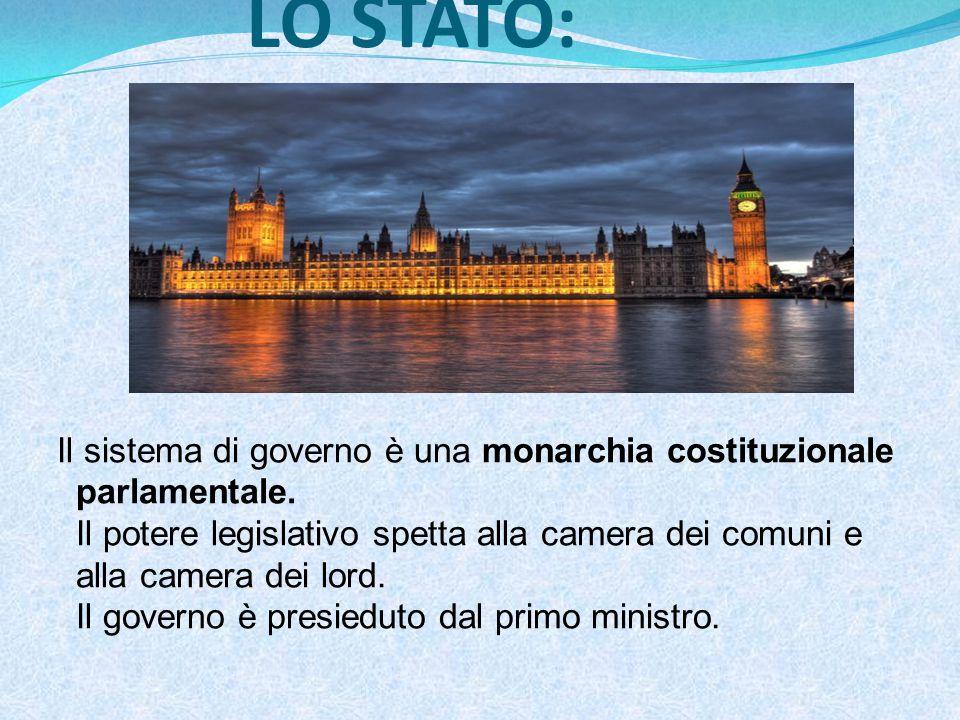 LO STATO: Il sistema di governo è una monarchia costituzionale parlamentale.