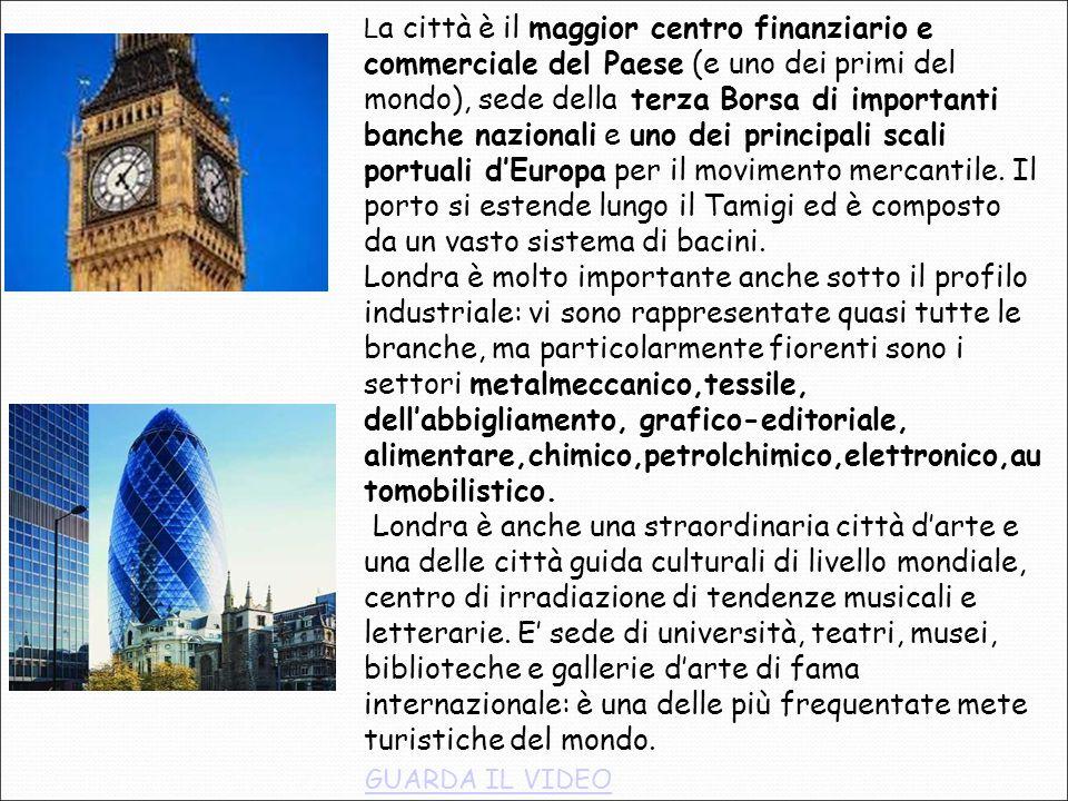 L a città è il maggior centro finanziario e commerciale del Paese (e uno dei primi del mondo), sede della terza Borsa di importanti banche nazionali e uno dei principali scali portuali d'Europa per il movimento mercantile.