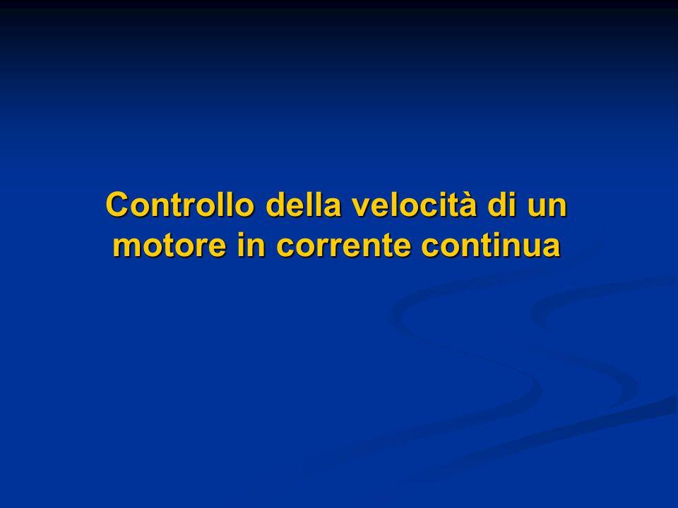 Controllo della velocità di un motore in corrente continua