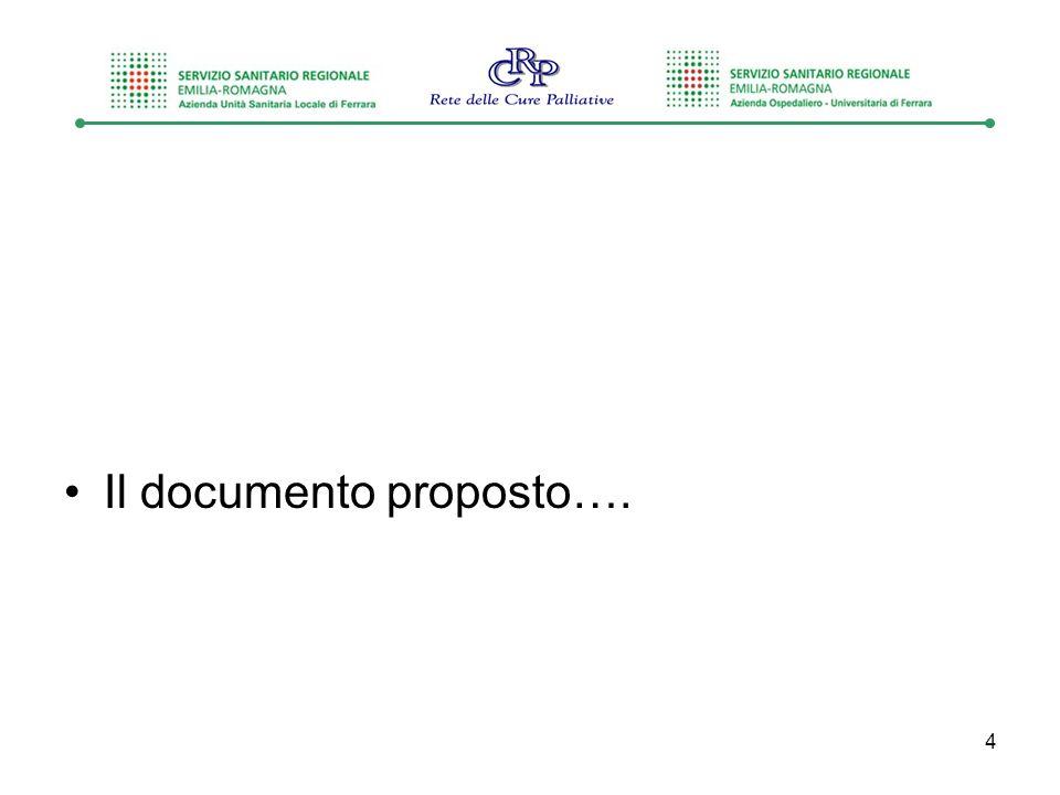Il documento proposto…. 4