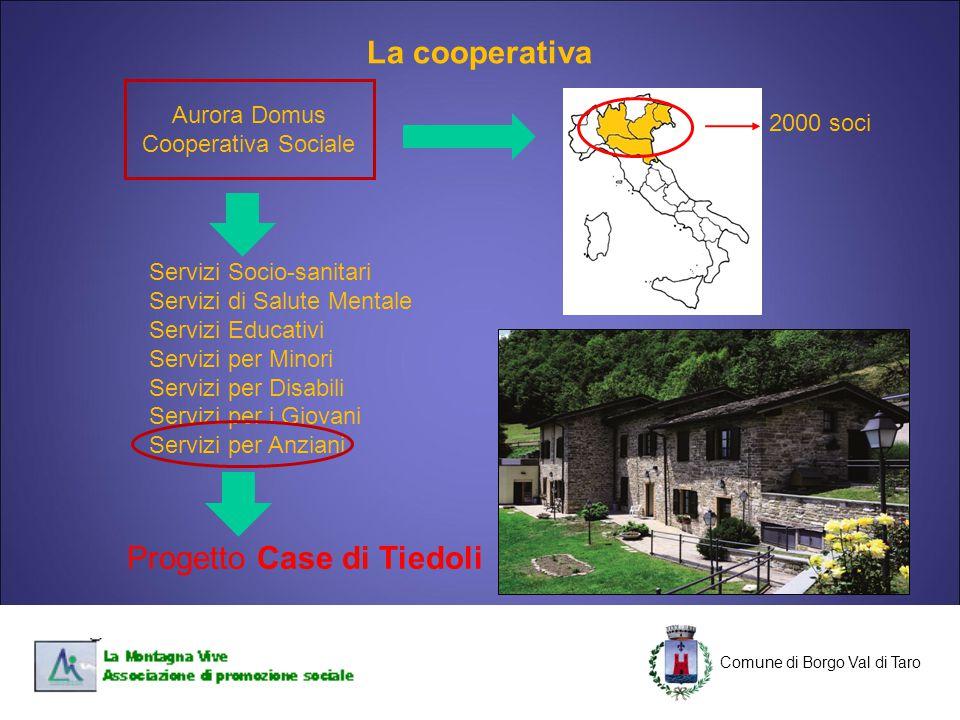 C Comune di Borgo Val di Taro C Aurora Domus Cooperativa Sociale 2000 soci Servizi Socio-sanitari Servizi di Salute Mentale Servizi Educativi Servizi