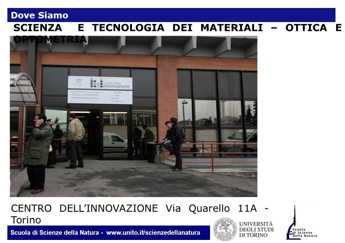 Scuola di Scienze della Natura - www.unito.it/scienzedellanatura SCIENZA E TECNOLOGIA DEI MATERIALI – OTTICA E OPTOMETRIA CENTRO DELL'INNOVAZIONE Via