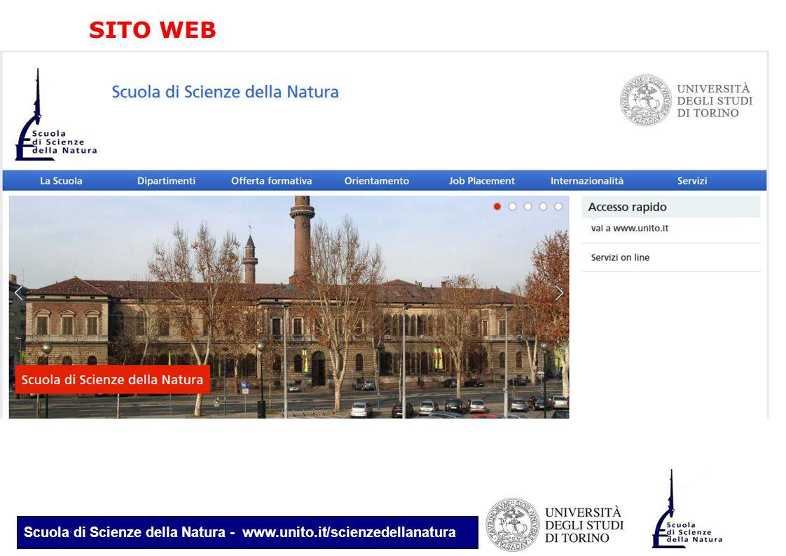Scuola di Scienze della Natura - www.unito.it/scienzedellanatura SITO WEB