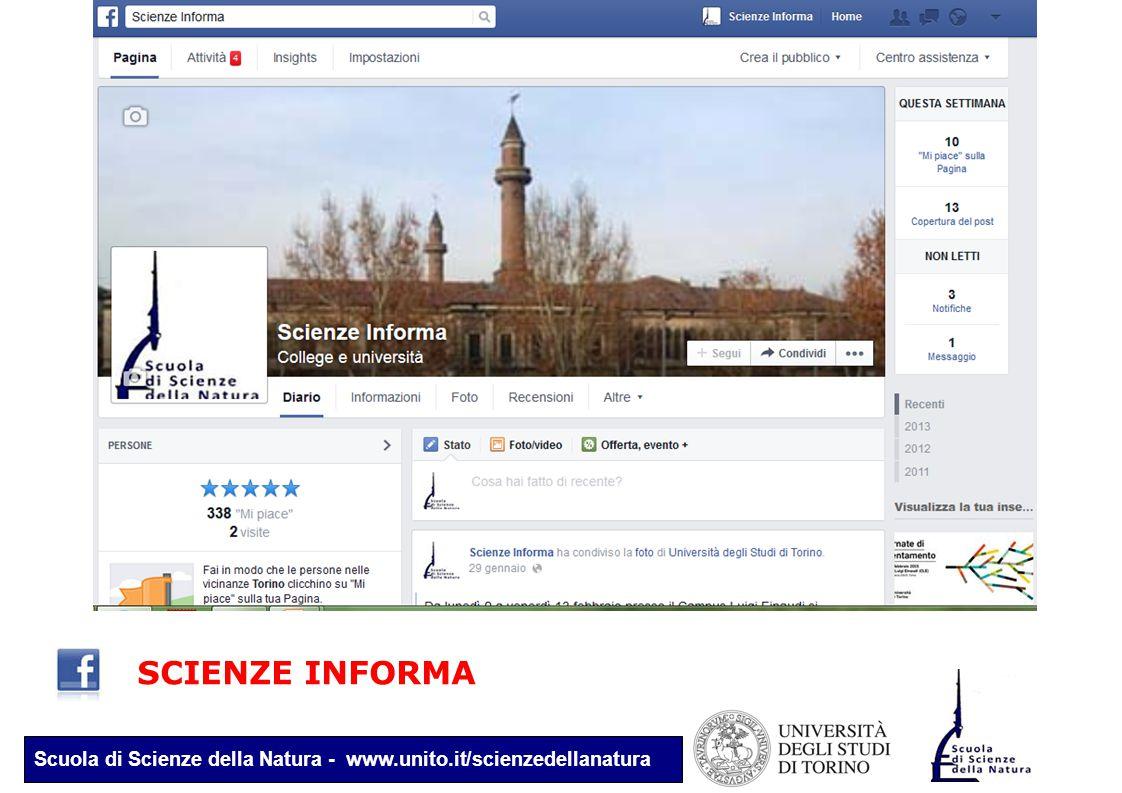 Scuola di Scienze della Natura - www.unito.it/scienzedellanatura SCIENZE INFORMA