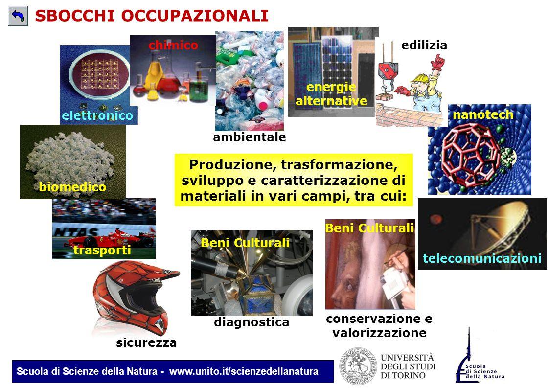 Scuola di Scienze della Natura - www.unito.it/scienzedellanatura telecomunicazioni Produzione, trasformazione, sviluppo e caratterizzazione di materia