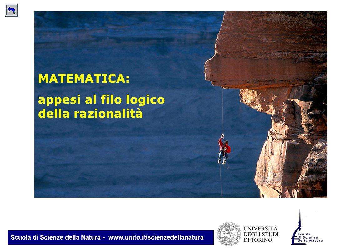 Scuola di Scienze della Natura - www.unito.it/scienzedellanatura MATEMATICA: appesi al filo logico della razionalità