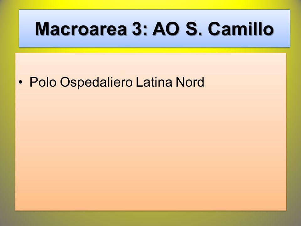 Macroarea 3: AO S. Camillo Polo Ospedaliero Latina Nord
