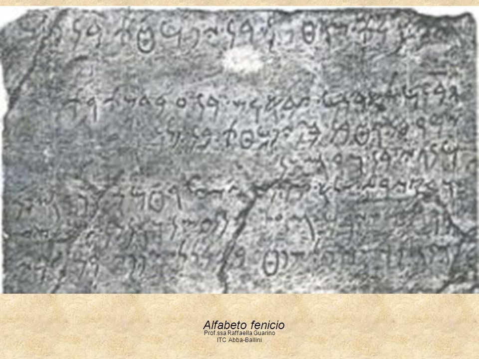 Prof.ssa Raffaella Guarino ITC Abba-Ballini Alfabeto fenicio