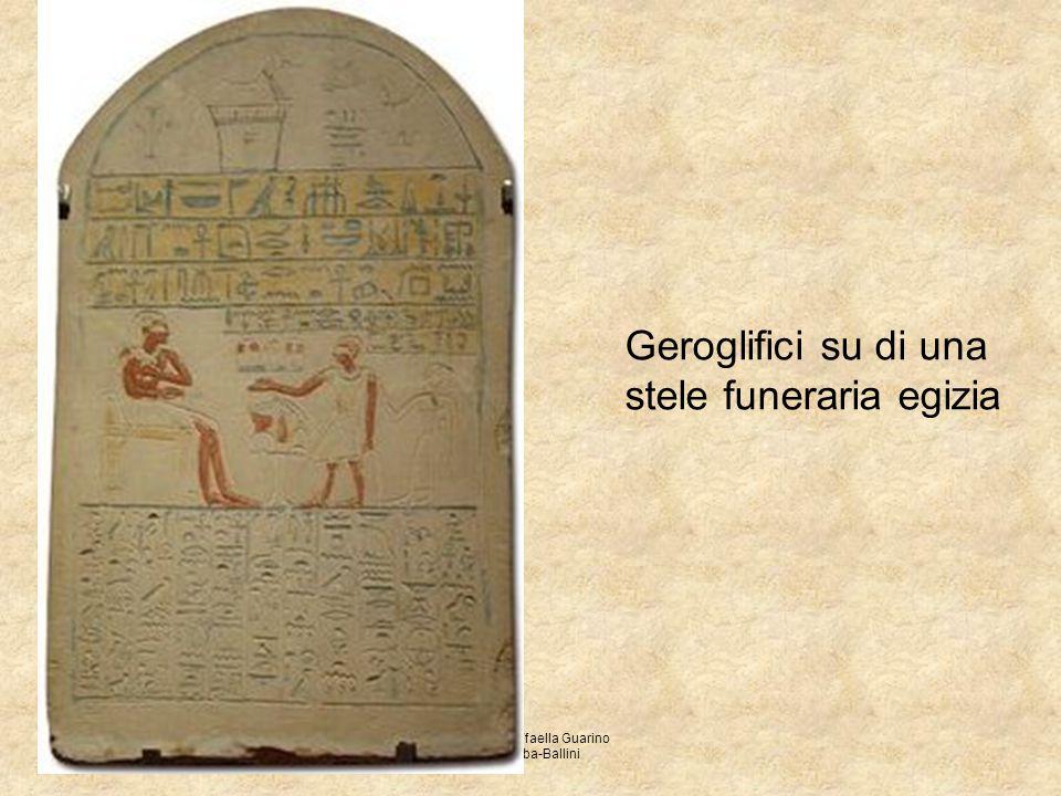 Prof.ssa Raffaella Guarino ITC Abba-Ballini Geroglifici su di una stele funeraria egizia