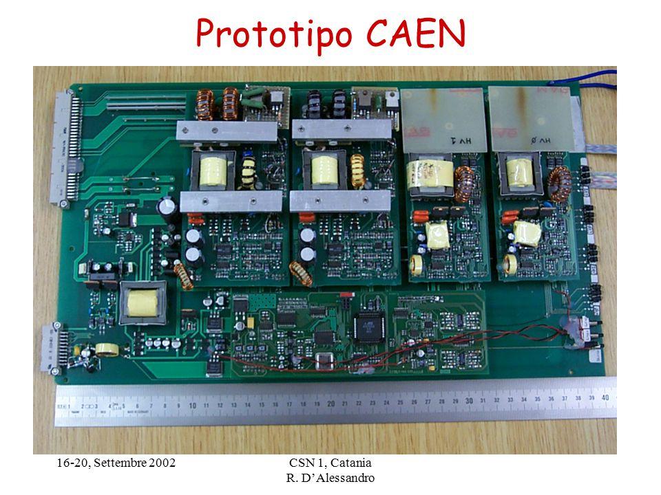16-20, Settembre 2002CSN 1, Catania R. D'Alessandro Prototipo CAEN
