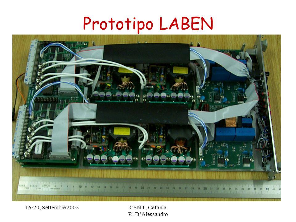 16-20, Settembre 2002CSN 1, Catania R. D'Alessandro Prototipo LABEN