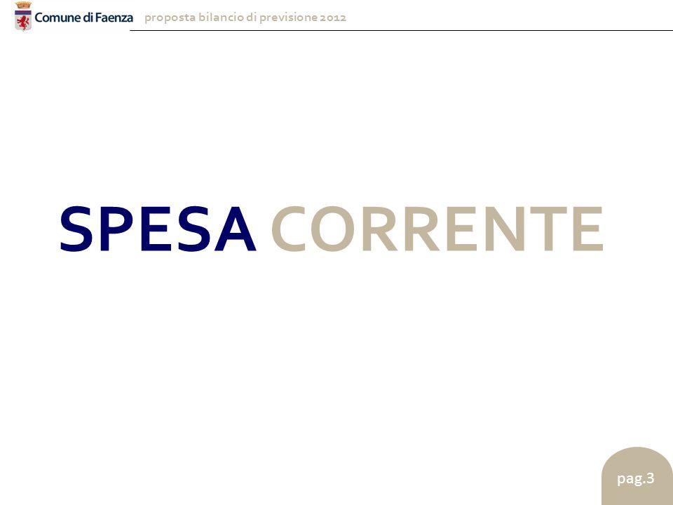 proposta bilancio di previsione 2012 pag.3 SPESA CORRENTE
