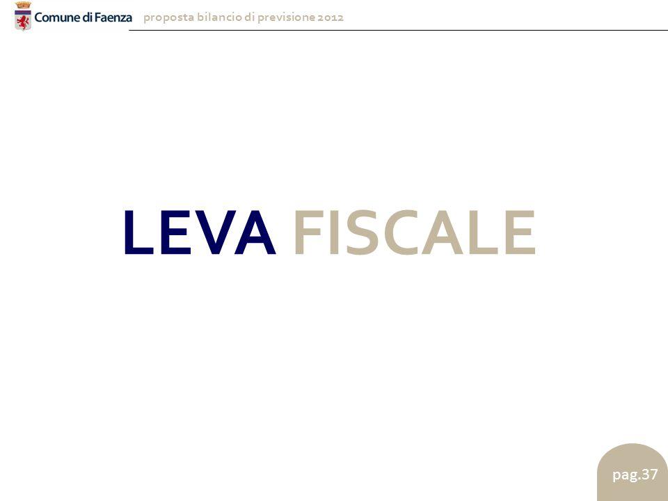 proposta bilancio di previsione 2012 pag.37 LEVA FISCALE