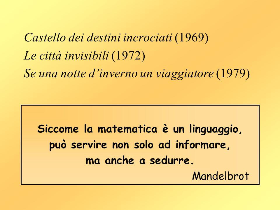 Castello dei destini incrociati (1969) Le città invisibili (1972) Se una notte d'inverno un viaggiatore (1979) Siccome la matematica è un linguaggio,